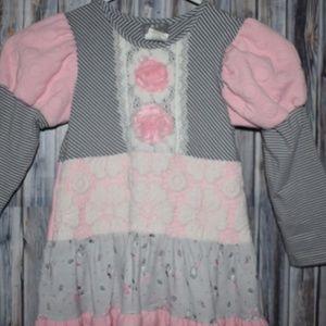 Zara Couture Girls Pink Gray Ballerina Dress 6